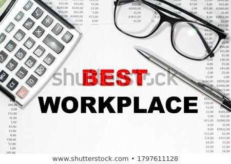 Stuk papier pen bril zak calculator Stockfoto © wavebreak_media