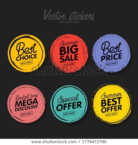 Renkli etiketler yalıtılmış beyaz kâğıt çerçeve Stok fotoğraf © maisicon