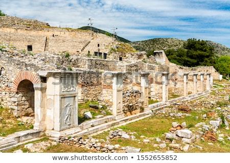 Ancient column in Philippi Stock photo © MiroNovak