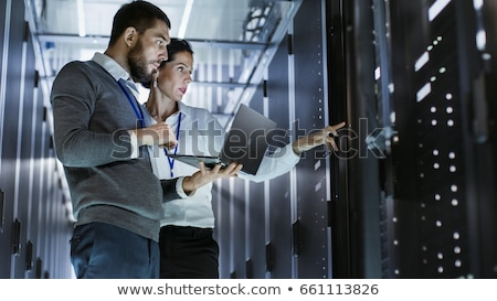 Woman is working on the servers in the data center Stock photo © wavebreak_media