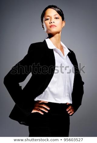 深刻 · 女性実業家 · 手 · ヒップ · スーツ · 女性 - ストックフォト © wavebreak_media
