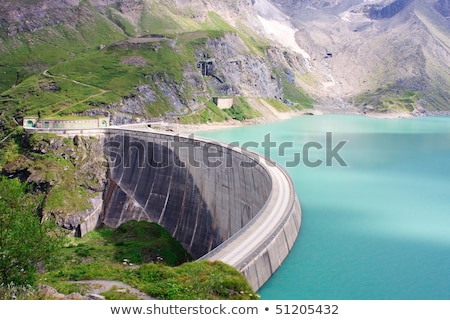 Staumauer des Kraftwerks Kaprun, Salzburg,  Stock photo © Bertl123