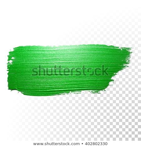 Pennello lucido verde vernice splash suggerimento Foto d'archivio © Lightsource