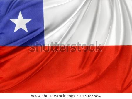 tecido · textura · bandeira · Chile · azul · arco - foto stock © maxmitzu