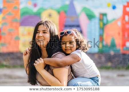 Retrato jóvenes madre nino dibujo cera Foto stock © photography33