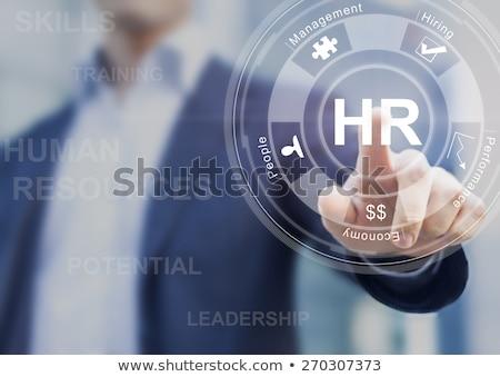 Humaine stratégie réalisation personne icône Photo stock © Lightsource
