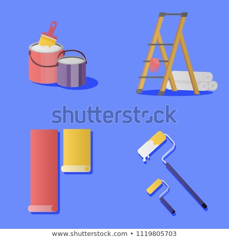Decorator dropping rolls of wallpaper Stock photo © photography33