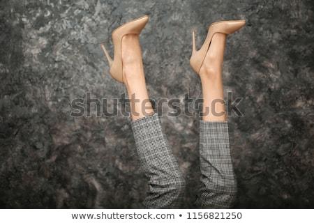 セクシー · ハイヒール · 靴 · アイコン · グレー · 女性 - ストックフォト © cteconsulting