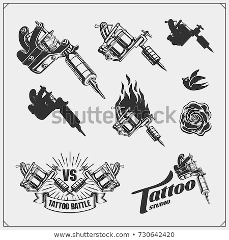 Tatuaje herramientas naturaleza muerta colores creativa aguja Foto stock © iofoto