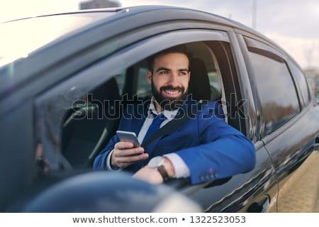 Knappe man rijden auto lifestyle buitenshuis portret Stockfoto © Victoria_Andreas