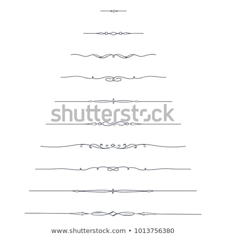 Decorative dividers Stock photo © milsiart