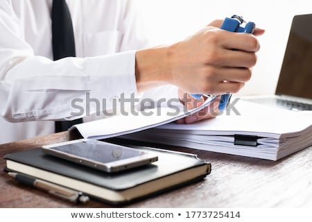 Black office stapler Stock photo © snyfer