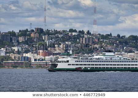 Seattle Skyline Tugboat Puget Sound Washington State Stock photo © billperry