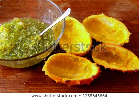 melón · frutas · dos · frutas · fondo · naranja - foto stock © sherjaca