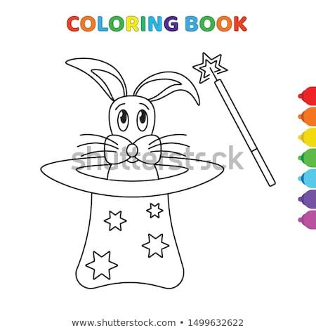 кролик · магия · Hat · Cartoon · белый · из - Сток-фото © zzve