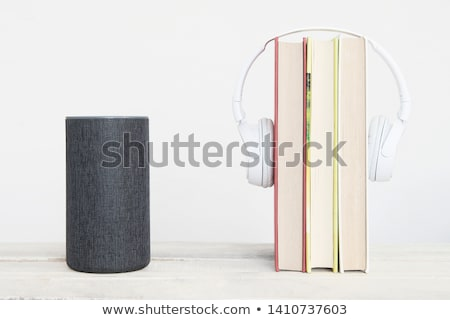 аудио · книгах · микрофона · бумаги · технологий · фон - Сток-фото © hd_premium_shots