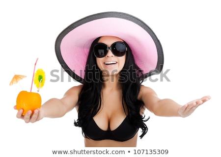 Portré nő visel rózsaszín bikini szexuális Stock fotó © chesterf