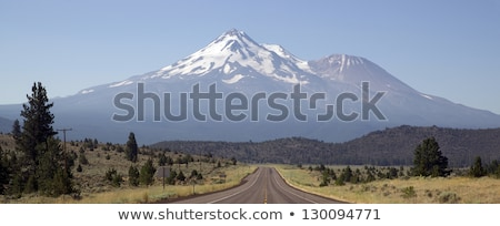California Highway Heads Toward Mountain Landscape Mt Shasta Cas Stock photo © cboswell