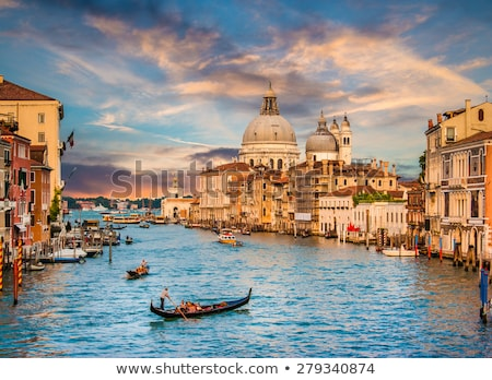 Venice Grand canal with gondolas and Rialto Bridge Stock photo © bloodua