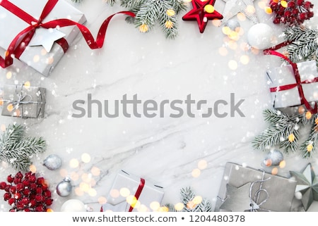 Stock photo: Christmas and new year Themed frame