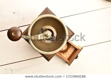Eski kahve öğütücü mutfak Stok fotoğraf © ivonnewierink