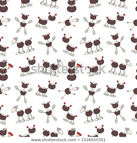 栗 おもちゃ ドングリ 動物 白 自然 ストックフォト © MKucova