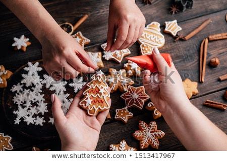 Christmas star vorm cookies voedsel Stockfoto © MKucova