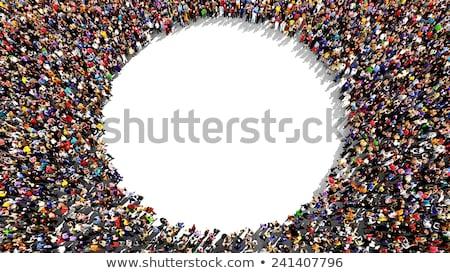Em pé fora pessoas vetor multidão Foto stock © burakowski