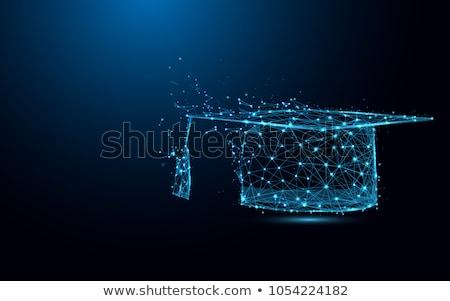 vector abstract graduation cap stock photo © burakowski