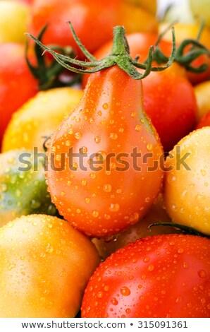 Groene peer tomaat kerstomaatjes groeiend Stockfoto © bendicks
