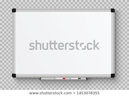 manyetik · işaretleyici · tahta · beyaz · yalıtılmış · ofis - stok fotoğraf © unkreatives