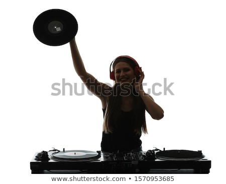 Disk Jockey Silhouettes Stock photo © derocz