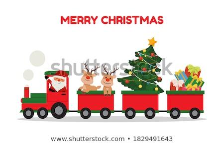 Christmas train Stock photo © Elmiko