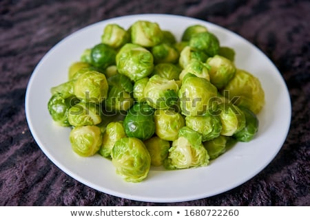 plate of brussels sprouts stock photo © philipimage