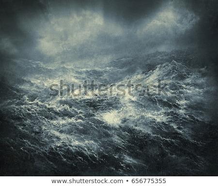парусного · лодка · бурный · морем · горизонте · темно - Сток-фото © thp