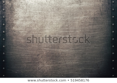 Scratched metallic background with rivets Stock photo © Nejron