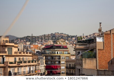 Modern art construction on rooftop in Barcelona, Spain Stock photo © Nejron