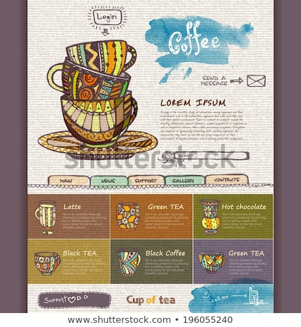 Fincan kahve ikon el yapımı kâğıt dekorasyon Stok fotoğraf © tashatuvango