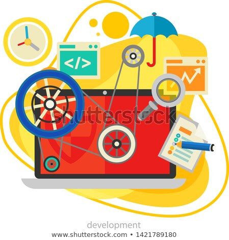 coding responsive html and css web design horizontal tablet stock photo © mpfphotography