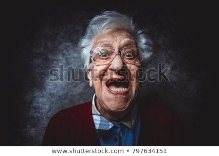 cirurgia · velho · hospital · mulher · cara - foto stock © konradbak
