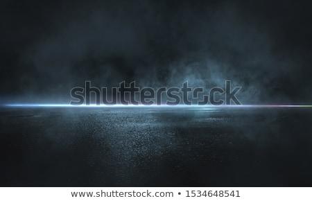 scivoloso · ghiacciato · strada · giallo · line · strada - foto d'archivio © stevanovicigor