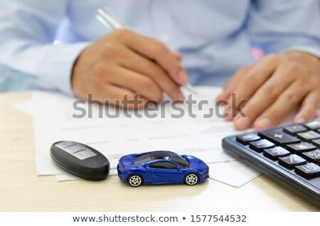 калькулятор · простой · ноутбук · отмечает · бумаги - Сток-фото © leungchopan