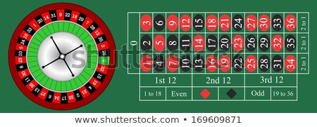 Stock photo: Wooden Shiny Roulette Details in a Casino