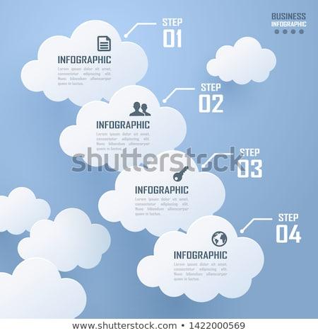 felhő · infografika · illusztráció · vektor · absztrakt · üzlet - stock fotó © auimeesri