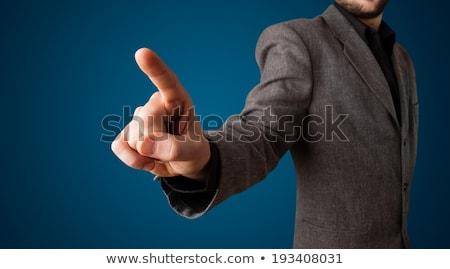 Finger presses the empty space Stock photo © cherezoff