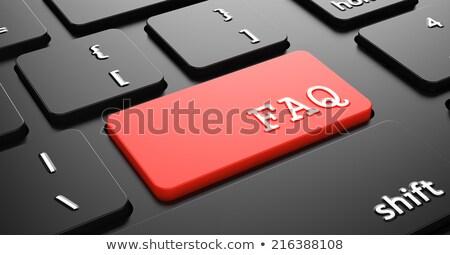 Faq vermelho teclado botão preto Foto stock © tashatuvango