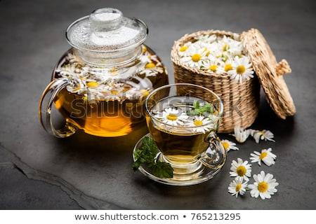 csésze · kamilla · tea · fehér · virág · természet - stock fotó © yelenayemchuk