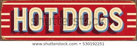 Hot Dogs Sign Stock photo © chrisbradshaw