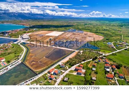 塩 · 生産 · ラ · 空 · 業界 · 産業 - ストックフォト © smuki