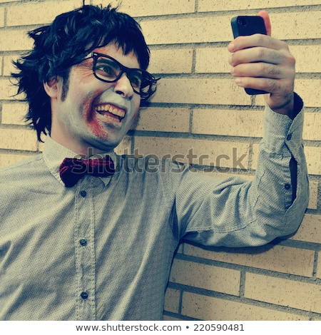 zombie taking a selfie with a filter effect stock photo © nito